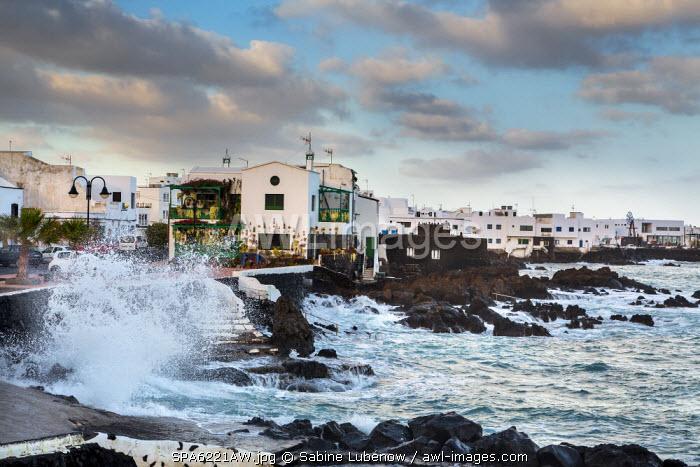 Rough sea, Punta de Mujeres, Lanzarote, Canary Islands, Spain