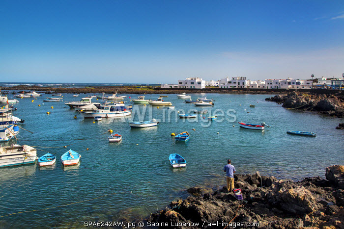 Marina, Orzola, Lanzarote, Canary Islands, Spain