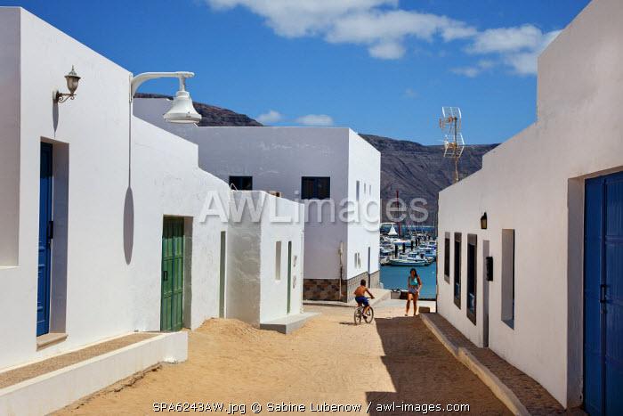 Caleta del Sebo, La Graciosa Island, Lanzarote, Canary Islands, Spain
