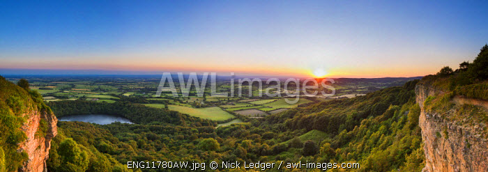 United Kingdom, England, North Yorkshire, Sutton Bank. The view from Sutton Bank was reputedly quoted by the artist William Turner as the 'finest view in England.
