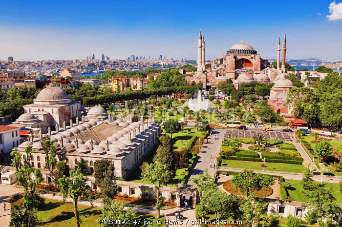 Turkey, Istanbul, historical centre listed as World Heritage by UNESCO, Sultanahmet District, Aya Sofya (Hagia Sophia)