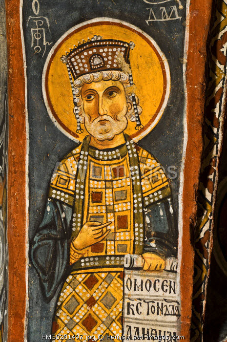 Turkey, Central Anatolia, Cappadocia, listed as World Heritage by UNESCO, Goreme, open air museum, Dark Church (Karanlik Kilise), fresco