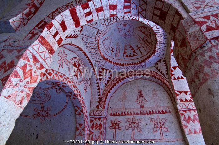 Turkey, Central Anatolia, Cappadocia, listed as World Heritage by UNESCO, Goreme, open air museum, St Basil Church (Basil Kilise)