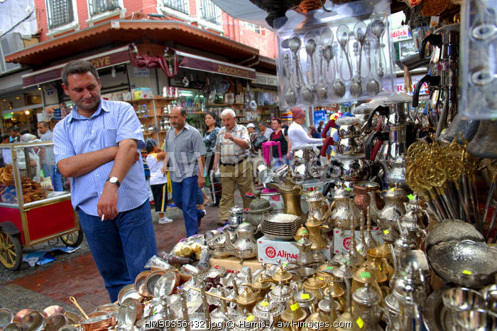 Turkey, Istanbul, historical centre listed as World Heritage by UNESCO, Sultanahmet District, the Egyptian Bazaar (Misir Carsisi)