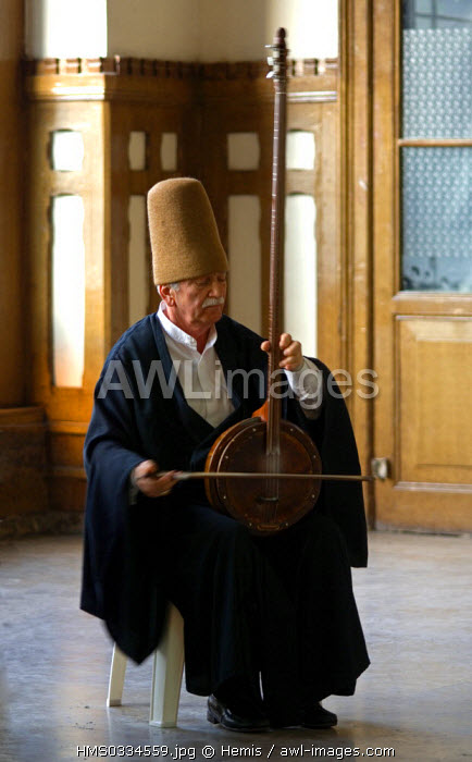 Turkey, Istanbul, Galata District, Mevlevi convent, dervish