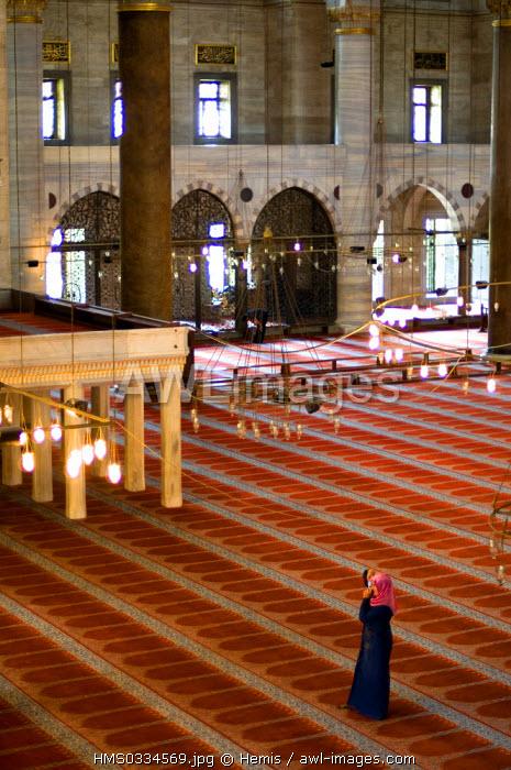 Turkey, Istanbul, historical centre listed as World Heritage by UNESCO, Suleymaniye District, Suleymaniye Camii (Suleymaniye Mosque) built by architect Mimar Sinan
