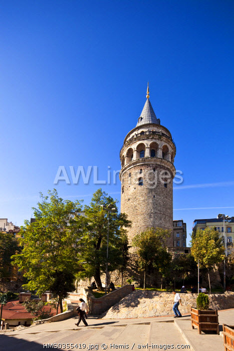 Turkey, Istanbul, Beyoglu, Tunel District, Galata Tower