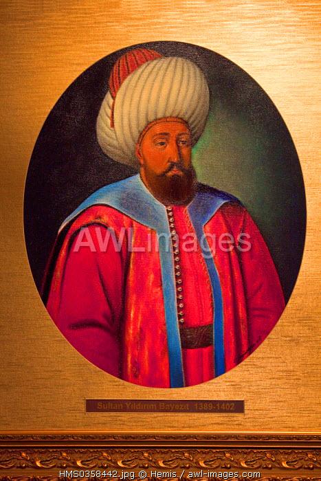 Turkey, Istanbul, Harbiye District, Askeri Muzesi Militar Museum, Sultan Yildirim Bayezit (1389-1402)