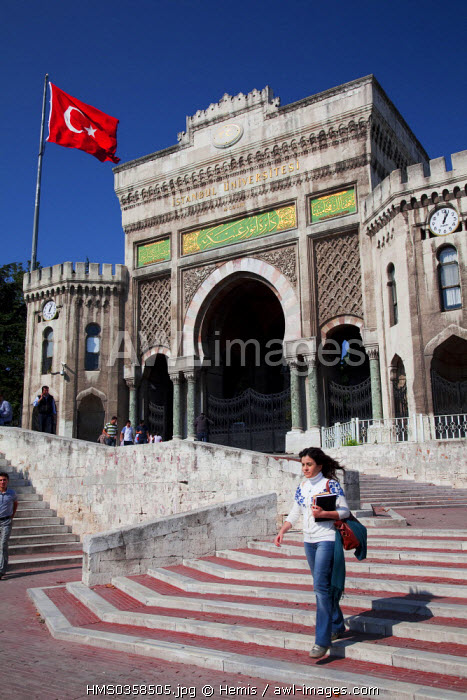 Turkey, Istanbul, Beyazit District, Istanbul University