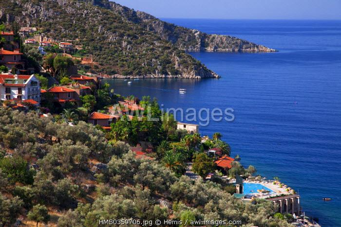 Turkey, Mediterranean Region, Turquoise Coast, Lycia, Kalkan