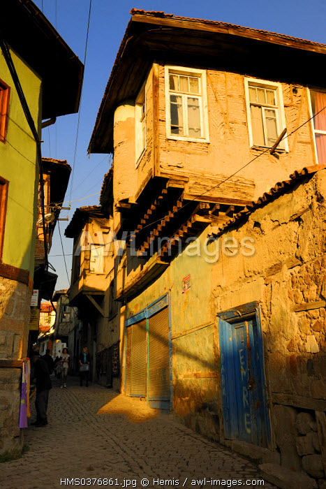 Turkey, Central Anatolia, Ankara, the main street of the citadel in the old town