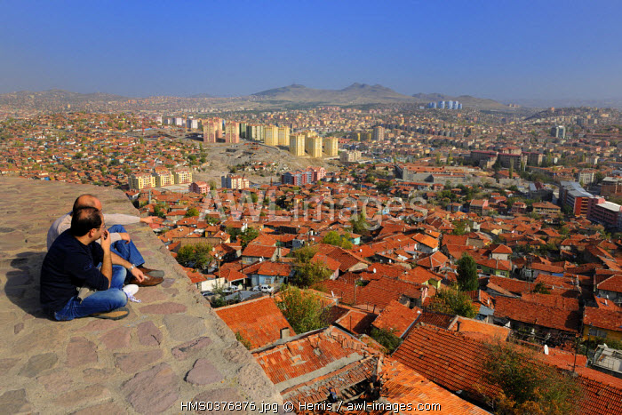 Turkey, Central Anatolia, Ankara, citadel in the old town dominating the Eastern new town