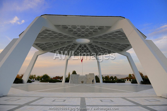 Turkey, Central Anatolia, Ankara, monument for the Turkish Republic heroes in the military cemetery