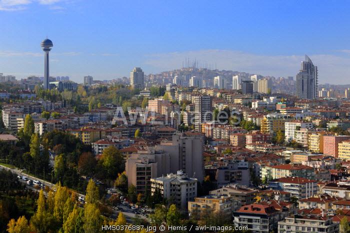Turkey, Central Anatolia, Ankara, the new town District, Ataturk Tower