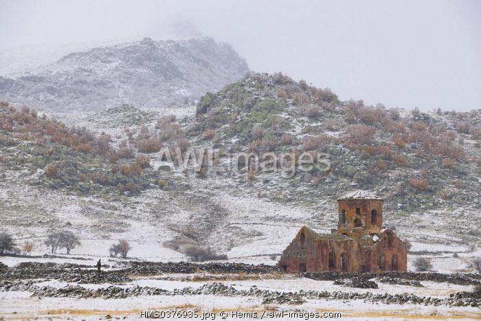 Turkey, Central Anatolia, Aksaray Province, Cappadocia, Guzelyurt, 7th century Kizil Kilise (the Red Church)