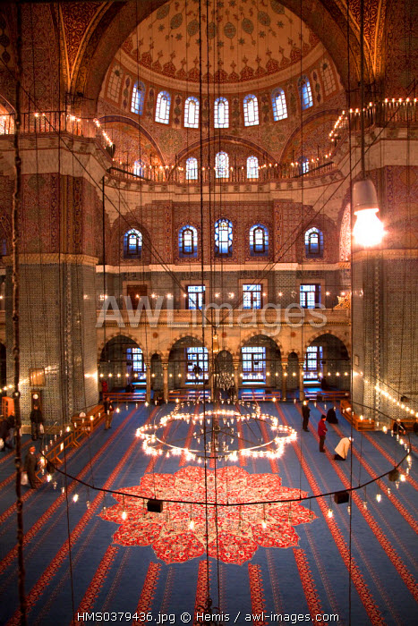 Turkey, Istanbul, historical centre listed as World Heritage by UNESCO, Eminonu District, the Yeni Cami (New Mosque)