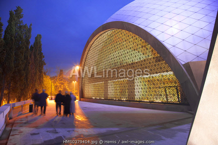 Turkey, Istanbul, Uskudar District, Sakirin Mosque, by architect Husrev Talya and interior designer the woman Zeynep Fadilioglu, the most modern mosque in Turkey decorated by a woman