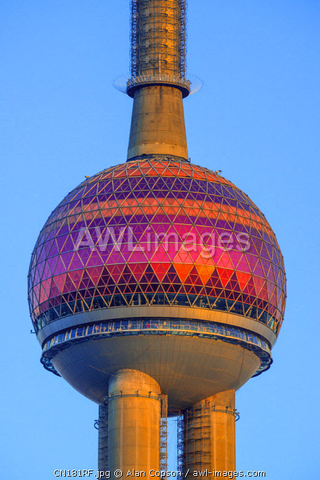 China, Shanghai, Pudong District, Financial District, Oriental Pearl Tower