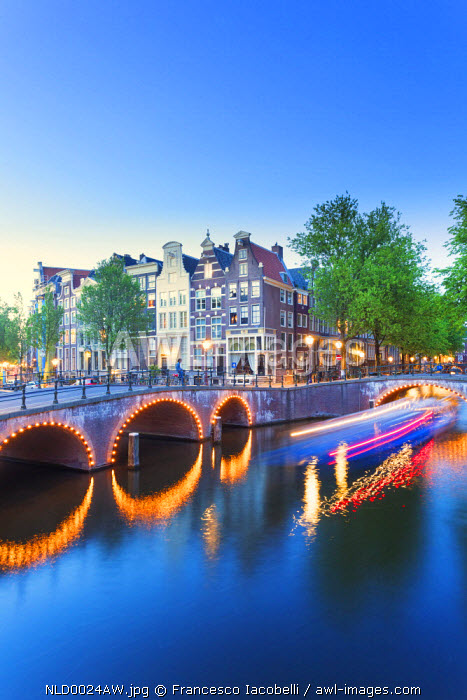 Netherlands, North Holland, Amsterdam. Keizersgracht The canal.