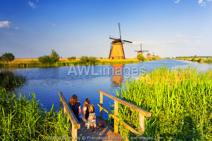 Netherlands, South Holland, Kinderdijk. Windmills