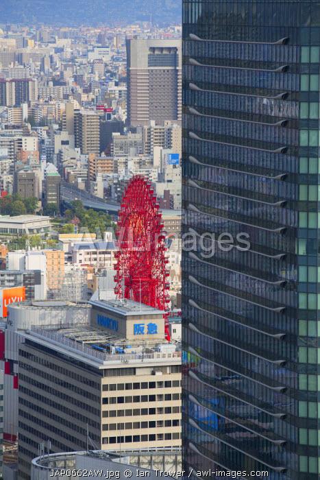 Ferris wheel on HEP Five Building, Umeda, Osaka, Kansai, Japan