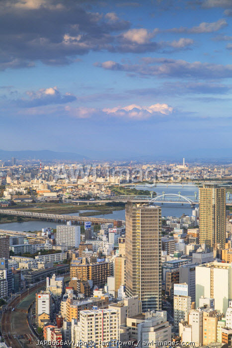 View of Osaka, Kansai, Japan