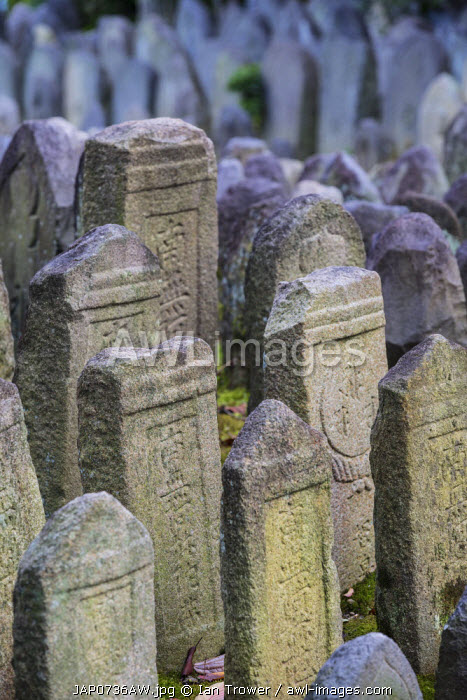 Holy stones at Gangoji Temple (UNESCO World Heritage Site), Nara, Kansai, Japan