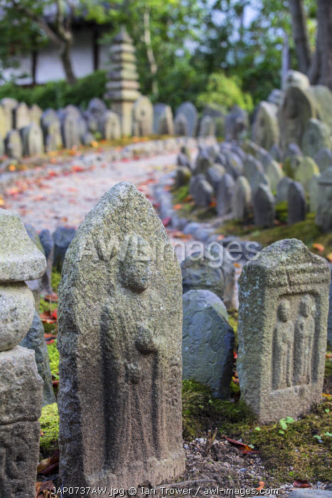 Holy stones at Gangoji Temple (UNESCO World Heritage Site), Nara, Kansai, Japan