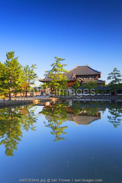 Todaiji Temple (UNESCO World Heritage Site) at dawn, Nara, Kansai, Japan