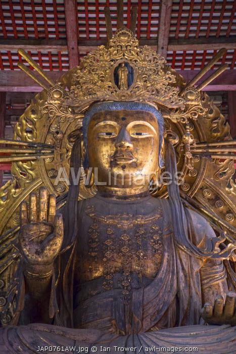 Kokuzo Bosatsu inside Todaiji Temple (UNESCO World Heritage Site), Nara, Kansai, Japan