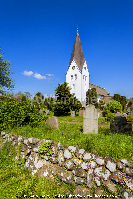 Church, Nebel, Amrum Island, Northern Frisia, Schleswig-Holstein, Germany