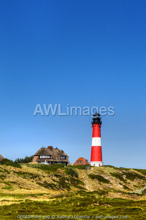 Lighthouse, Hörnum, Sylt Island, Northern Frisia, Schleswig-Holstein, Germany