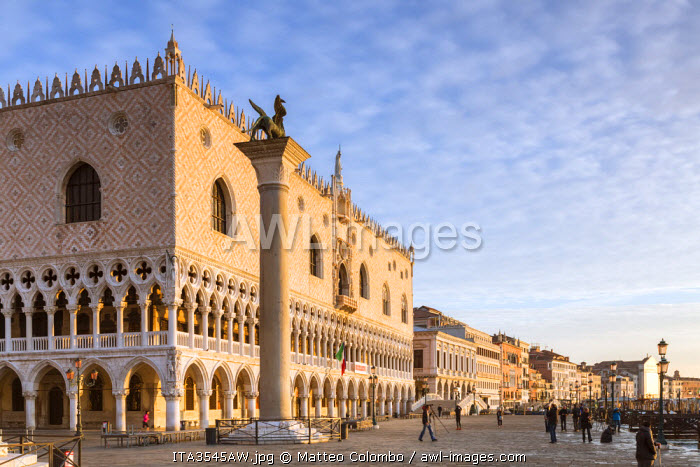 Italy, Veneto, Venice. First light over Doges palace