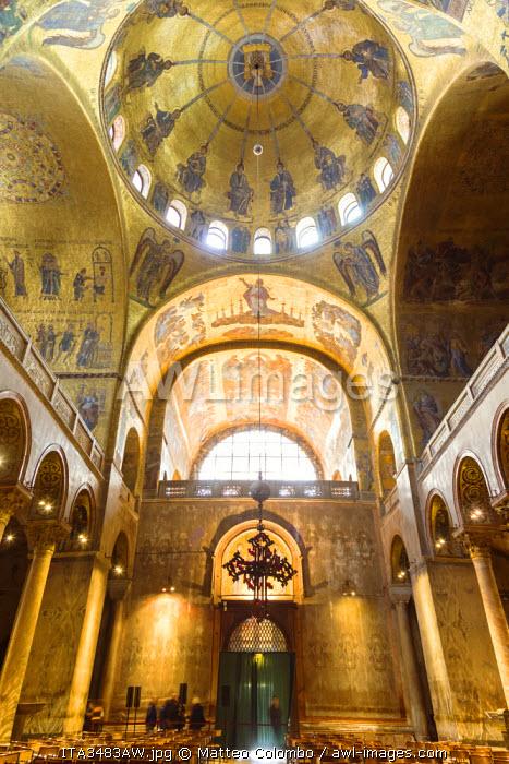 Italy, Veneto, Venice. Interior of St Marks cathedral