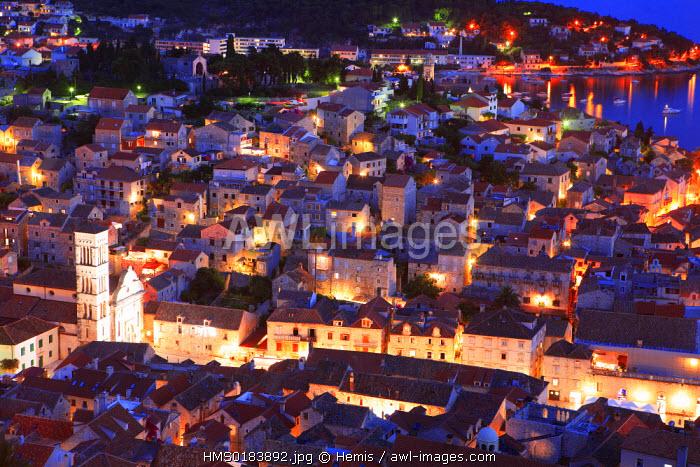 Croatia, Dalmatia, Dalmatian coast, Hvar island, Hvar city