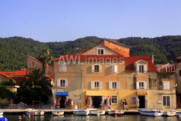 Croatia, Dalmatia, Dalmatian coast, Hvar Island, Stari Grad city
