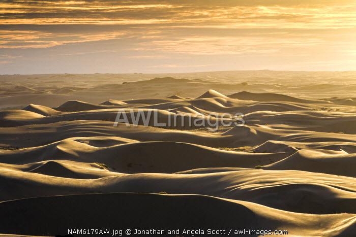 Africa, Namibia, Marienfluss Conservancy, Serra Cafema. Landscape and Sand dunes.