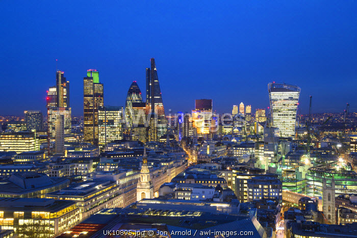 City of London skyline, London, England