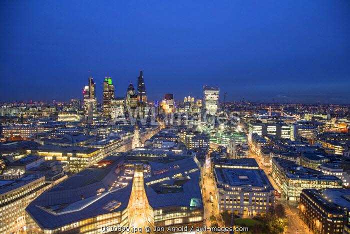 City of London skyline, London, England