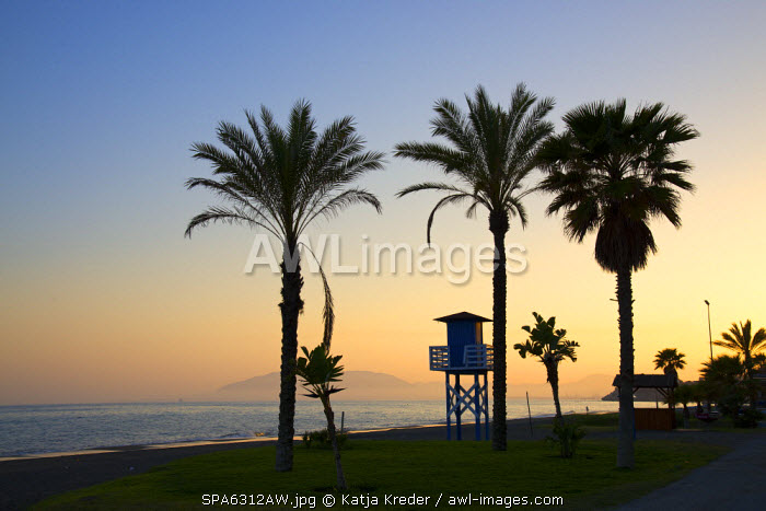Sunset in Rincon de la Victoria, Costa del Sol, Andalusia, Spain