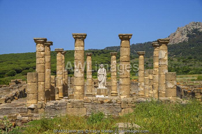 Roman ruins Baelo Claudia near Bolonia, Costa de la Luz, Andalusia, Spain