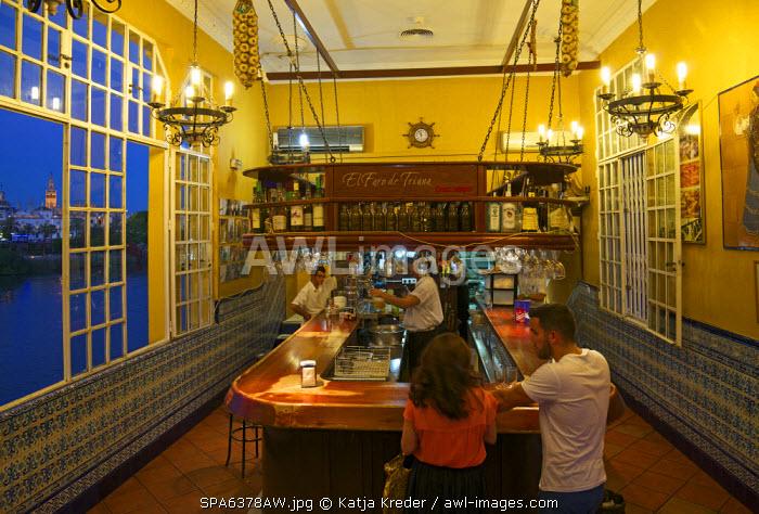 Caf� El Faro de Tirana, Seville, Andalusia, Spain
