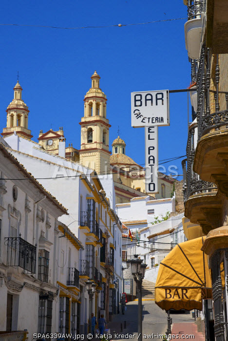 Alley in Olvera, Andalusia, Spain