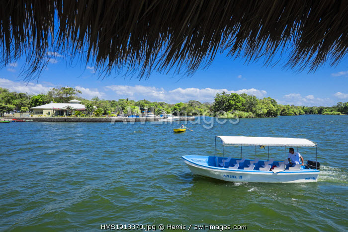 Nicaragua, Granada department, Granada, Las Isletas, a group of 365 small islands in lake Nicaragua scattered about the Asese peninsula, covered with vegetation and rich with bird life