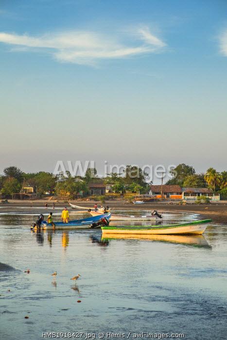 Nicaragua, Leon department, Las Penitas fishing village
