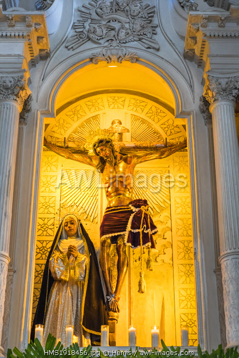 Nicaragua, Leon department, Leon, the Cathedral (Bas�lica Catedral de la Asuncion de Leon), Baroque and Neoclassicism style, listed as World Heritage by UNESCO