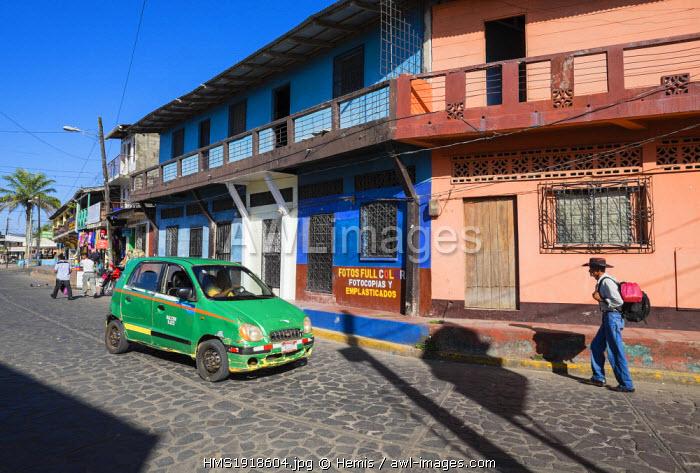Nicaragua, Rio San Juan department, San Carlos, little town on the confluence of Lake Nicaragua and the Rio San Juan