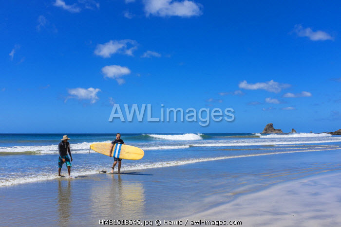 Nicaragua, Rivas department, San Juan del Sur, searesort on the Pacific coast, Playa Maderas, a good spot for surfers
