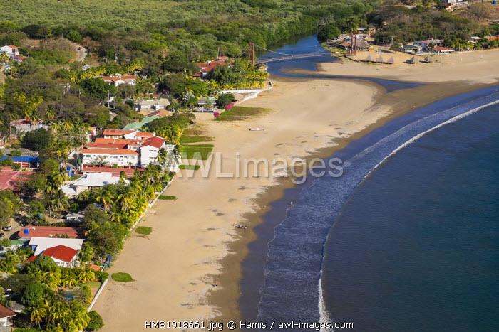 Nicaragua, Rivas department, San Juan del Sur, searesort on the Pacific coast, the bay from the Jesus de la Divina Misericordia