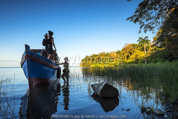 Nicaragua, Rio San Juan department, Solentiname islands, towards the southern end of Lake Nicaragua, Mancarron island